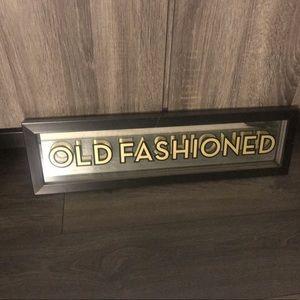 Z Gallerie Framed Old Fashioned Sign
